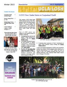 Winter 2015 newsletter
